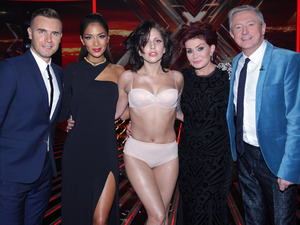 Lady GaGa with The X Factor judges