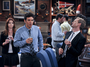 Ted and Barney in How I Met Your Mother: 'Knight Vision'