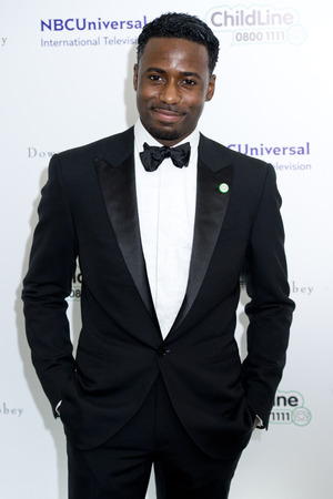 Gary Carr attends the Downton Abbey themed fundraiser for the NSPCC at The Savoy Hotel, Strand, Londo