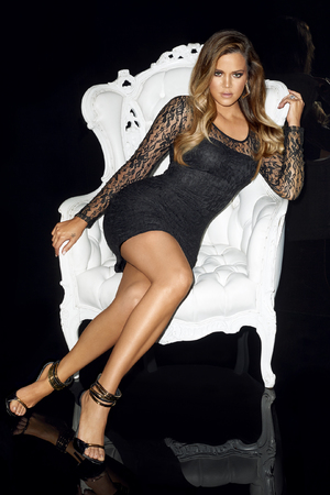 Khloe Kardashian poses for Lipsy