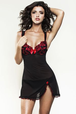 Lucy Mecklenburgh models the 'By Caprice' lingerie range