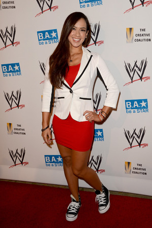 April Jeanette Mendez aka AJ Lee at the WWE SummerSlam VIP Kick-Off Party at Beverly Hills Hotel