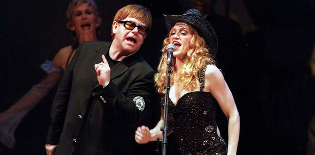 RAINFOREST BENEFIT GALA CONCERT ELTON JOHN AND MADONNA 29 Apr 1998