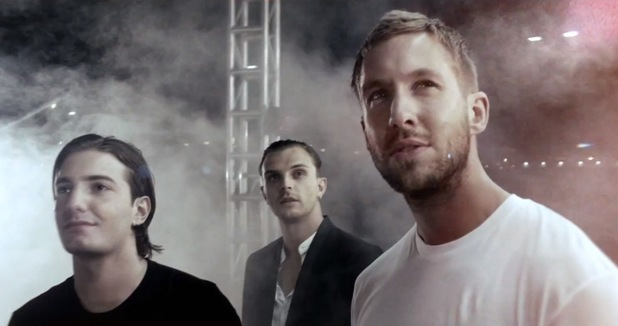 Calvin Harris, Alesso & Hurts in 'Under Control' music video.