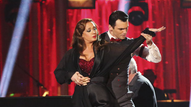 Leah Remini & Tony Dovolani on 'Dancing With The Stars' week 6