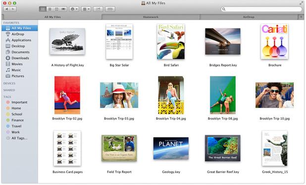 Finder tabs on OS X Mavericks