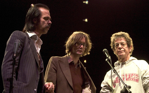 Nick Cave, Jarvis Cocker and Lou Reed