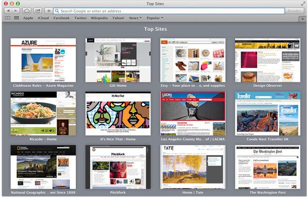 Safari on OS X Mavericks