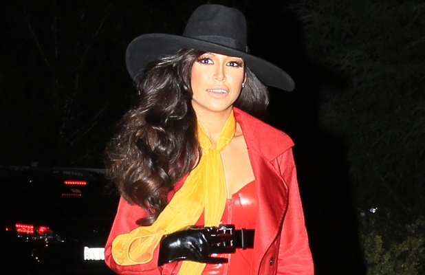 Naya Rivera seen at a Pre-Halloween Fancy dress party at the home of Kate Hudson