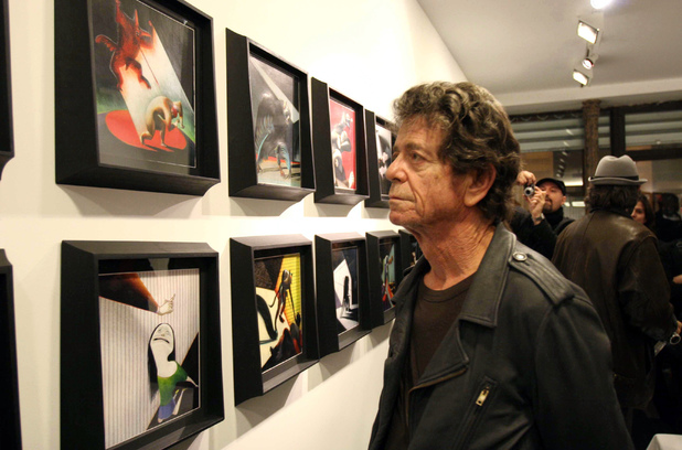 Lou Reed at an exhibition in 2009
