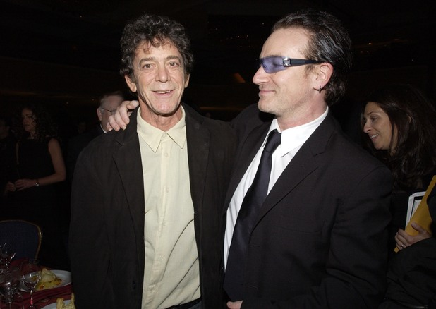 Lou Reed and Bono