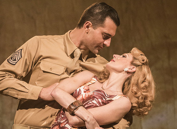 Darius Campbell and Rebecca Thornhill as Warden and Karen Holmes in From Here To Eternity