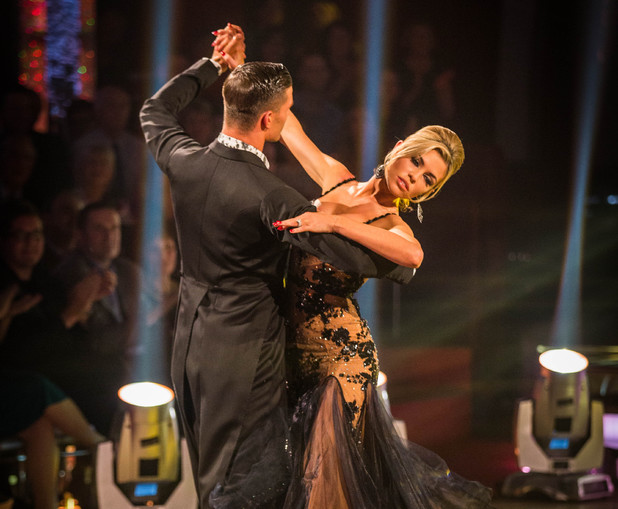 Abbey and Aljaz dance the  Foxtrot