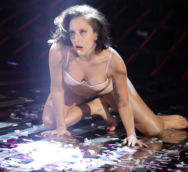 Lady GaGa performs on The X Factor