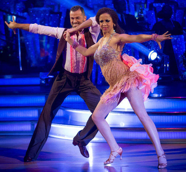 Natalie and Artem dance the Salsa