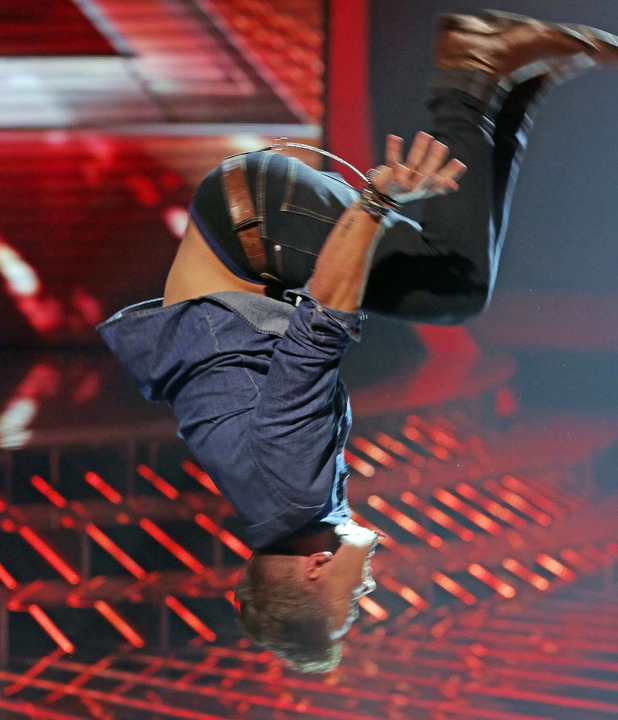Sam jumps for joy when he learns he is through to next weeks show.