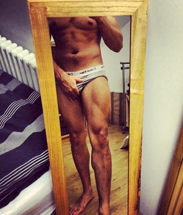 Louis Smith posts a picture in his pants