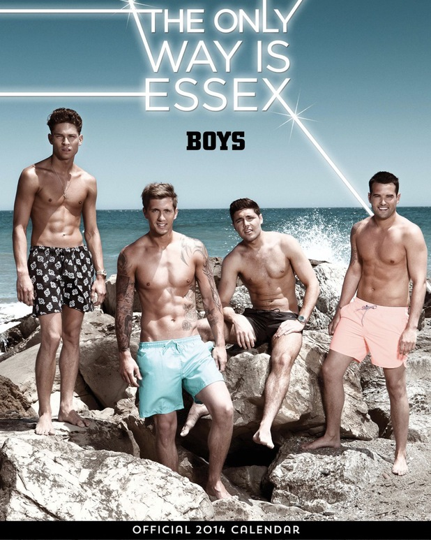'TOWIE' boys pose for their 2014 calendar