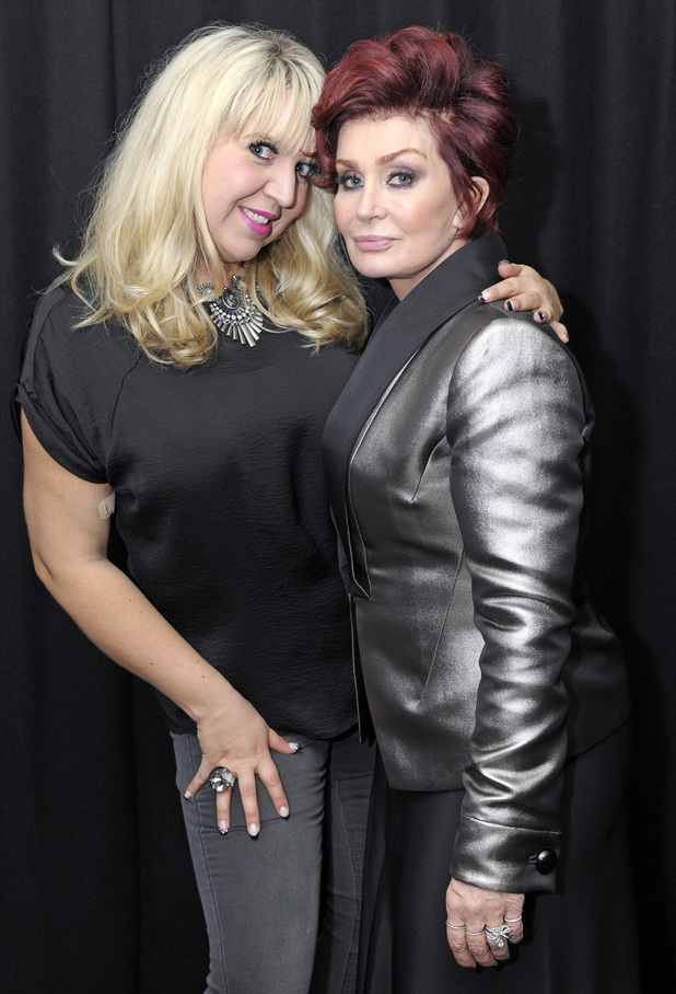 Shelley Smith and Sharon Osbourne