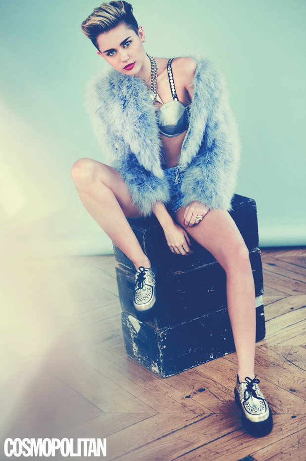 Miley Cyrus in the December issue of Cosmopolitan
