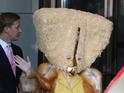 Gaga wears bizarre Charlie Le Mindu headdress ahead of ARTPOP album launch in Berlin.