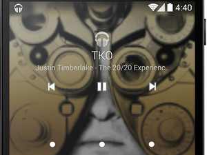 Android 4.4 KitKat music screenshot