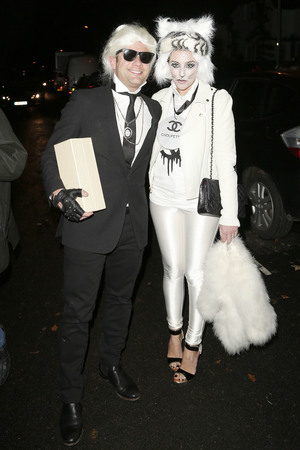 Dermot O'Leary, Dee Koppang Jonathan Ross Halloween party 2013