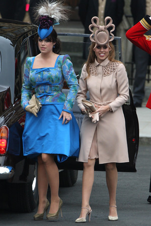 Princess Beatrice and Eugenie at the Royal Wedding in 2011
