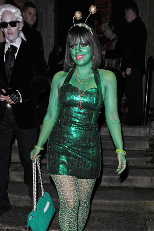 Lily Allen Unicef Halloween ball at 1 Mayfair Robbie leavings