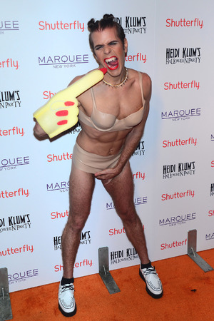 Heidi Klum's 13th Annual Halloween Party, New York, America - 31 Oct 2013 Perez Hilton 31 Oct 2013
