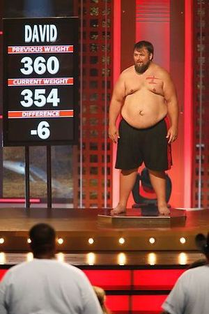 David's weigh in during The Biggest Loser Season 15, Episode 3