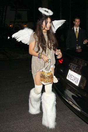 Vanessa Hudgens Celebrities Attend a Halloween Party in Beverly Hills, Los Angeles, America - 25 Oct 2013 Vanessa Hudgens 25 Oct 2013