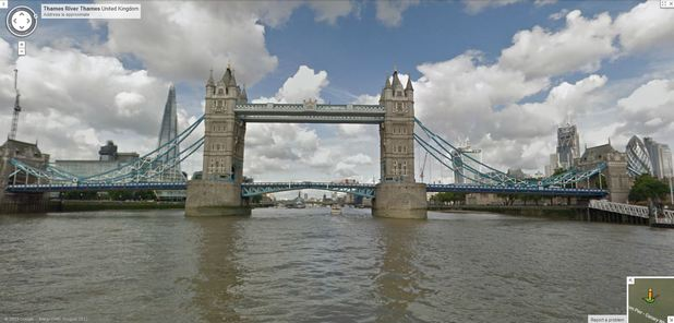 Google Maps virtual Tour of the River Thames