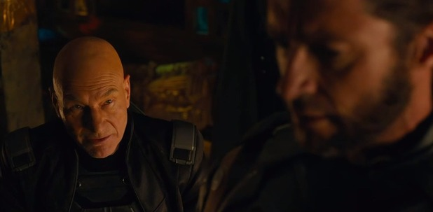 Patrick Stewart and Hugh Jackman in 'X-Men: Days of Future Past'