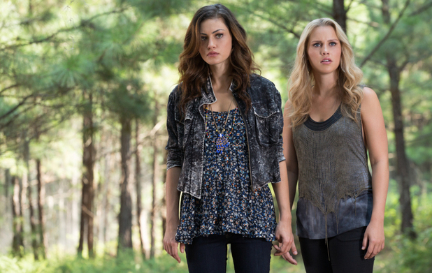 Phoebe Tonkin as Hayley and Claire Holt as Rebekah in The Originals: 'Sinners and Saints'
