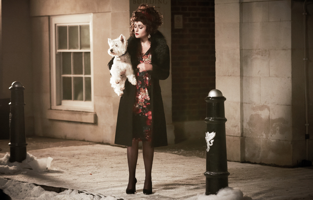 Helena Bonham Carter appearing in the Marks & Spencer Christmas campaign