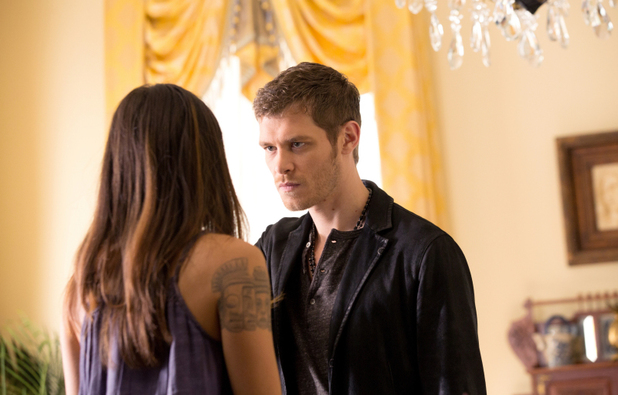 Daniella Pineda as Sophie and Joseph Morgan as Klaus in The Originals: 'Sinners and Saints'