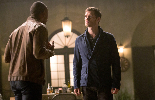 Charles Michael Davis as Marcel and Joseph Morgan as Klaus in The Originals: 'Sinners and Saints'
