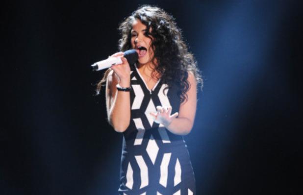 Khaya Cohen performs on The X Factor USA first live show