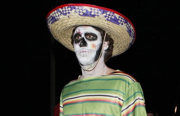 Celebrities attend Mike Meldman's Annual Halloween Party in Beverly Hills Adam Brody