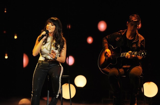 Rachel Potter performs on The X Factor USA first live show
