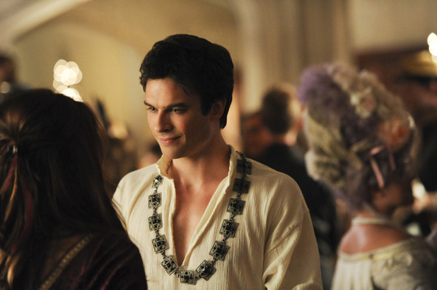 Nina Dobrev as Elena and Ian Somerhalder as Damon in The Vampire Diaries S05E05: 'Monster's Ball'