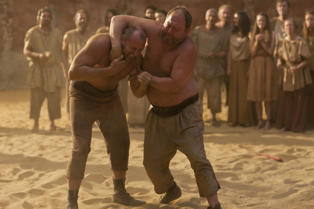 Hercules (Mark Addy) &  Lysis (David Garrick) in Atlantis episode 6
