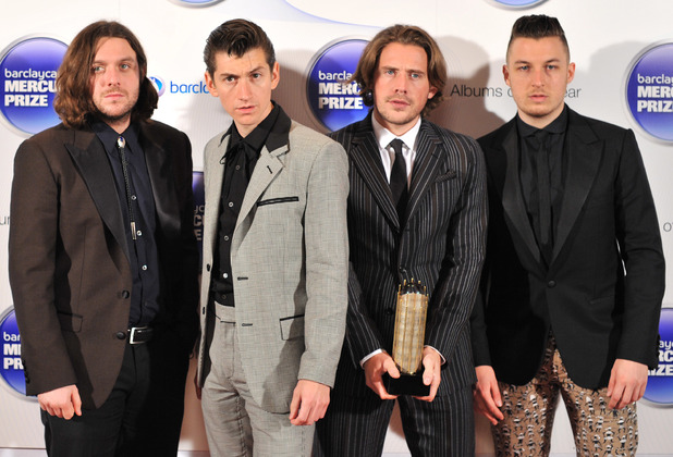 Arctic Monkeys arriving at the Barclaycard Mercury Music Prize ceremony at the Roundhouse, Camden.