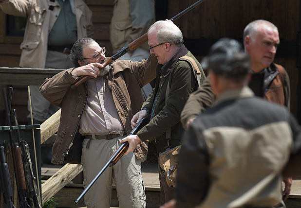 Mandy Patinkin as Saul Berenson and Tracy Letts as Senator Andrew Lockwood in Homeland Season 3 Episode 5: 'The Yoga Play'