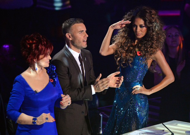 Sharon Osbourne, Gary Barlow and Nicole Scherzinger on 'The X Factor' Disco Week