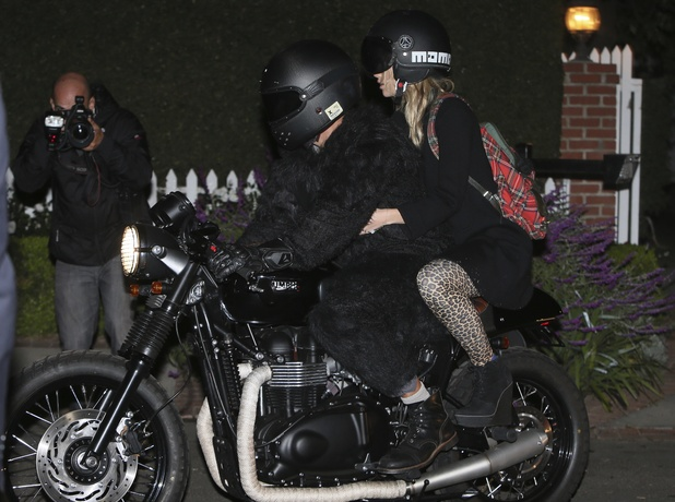 Bradley Cooper and Suki Waterhouse seen arriving at a pre Halloween Fancy dress party at the home of Kate Hudson.