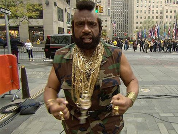 Al Roker dresses as Mr T on 'Today'