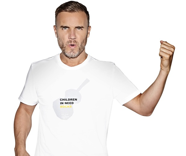Gary Barlow's T-shirt in celebration of Children in Need Rocks