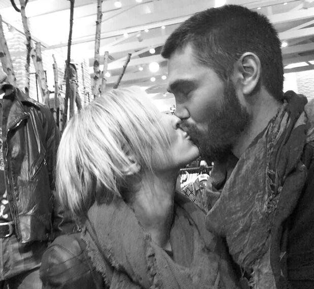 Chad Michael Murray and Nicky Whelan kiss